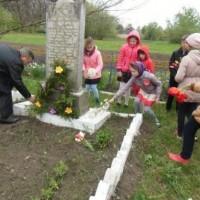 Покладання квітів на братську могилу.